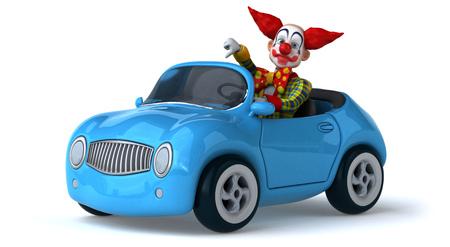 white person: Fun clown