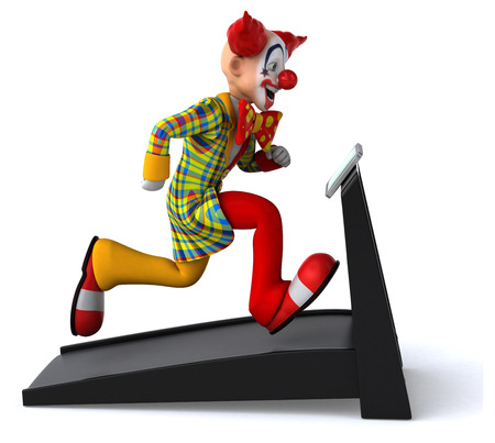 running nose: Fun clown