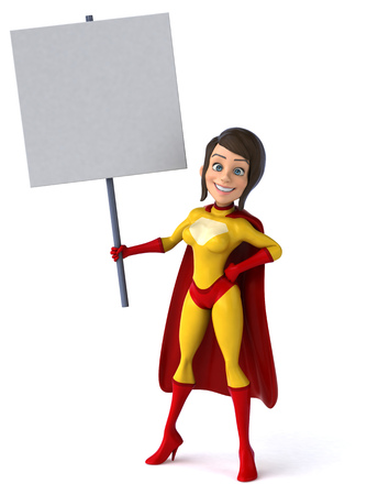 supergirl: Super woman Stock Photo
