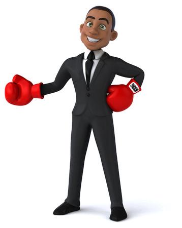 serious business: Fun business man Stock Photo