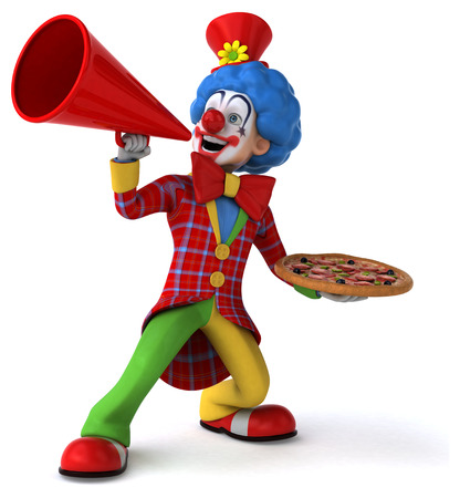 red nose: Fun clown
