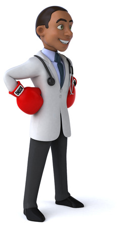 medical fight: Fun doctor Stock Photo