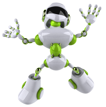 Robot with arms wide open