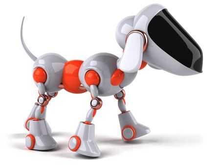 Robotic dog character
