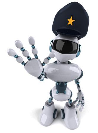 停止ジェスチャー ロボット警察
