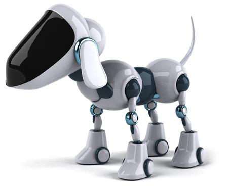 3D 로봇 개 스톡 콘텐츠