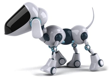 Cartoon robot dog Banque d'images
