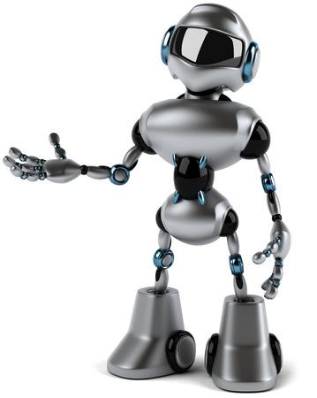 Cartoon robot with hand gesture