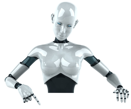 cyber woman: Cartoon female android