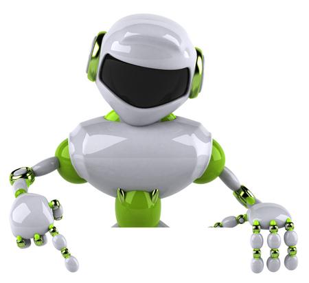 Fun robot Stock Photo