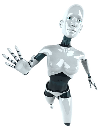 Cartoon female robot