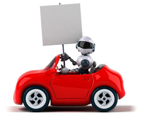 Robot and car Reklamní fotografie