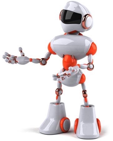 Cartoon robot is posing Stock Photo