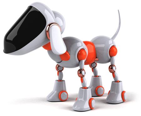 Cartoon robot dog Standard-Bild