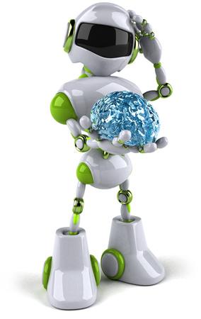 두뇌와 만화 로봇