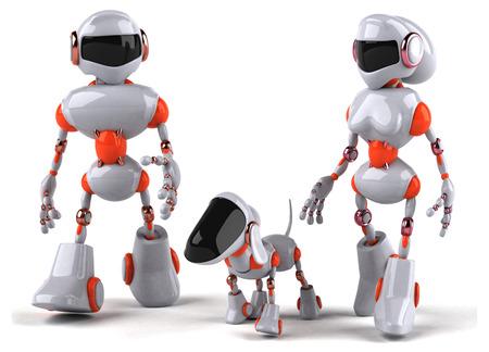 chrome man: Robot Stock Photo