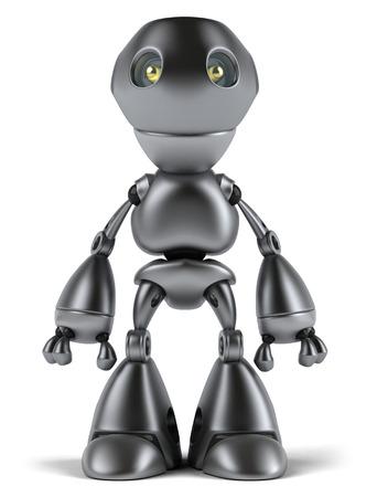 Cartoon robot is standing Stock Photo