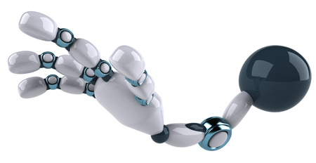 Cartoon robot arm