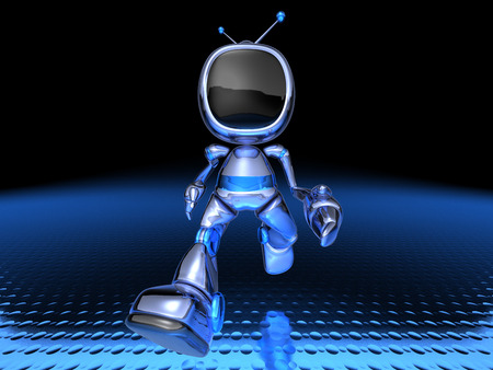 Cartoon robot television