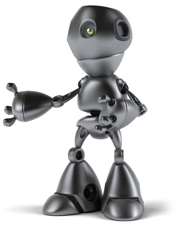 Cartoon robot posing