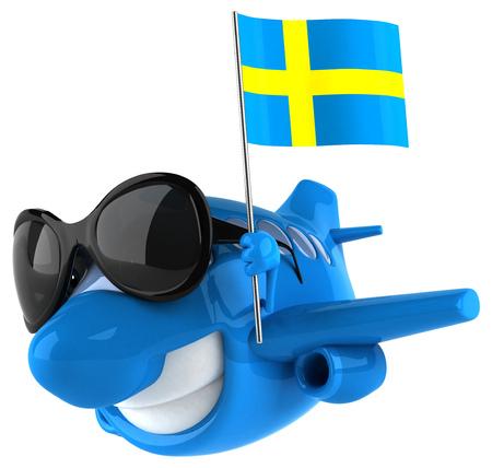 bandera de suecia: plano de la diversión Foto de archivo