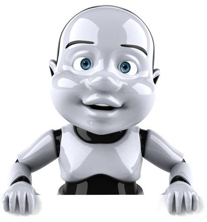 Cartoon robot baby Stock Photo