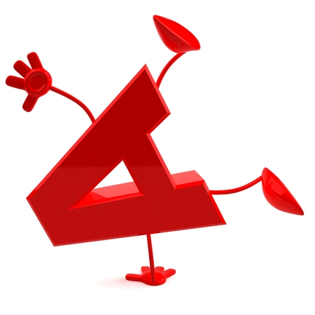 Cartoon character of letter a Stock Photo