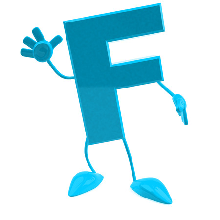 Cartoon character of letter f
