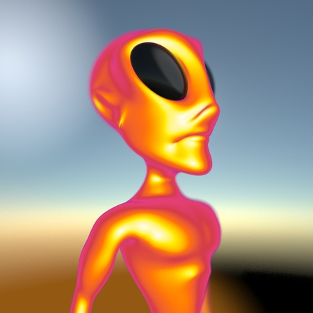 outerspace: Alien Stock Photo