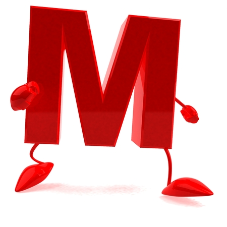Cartoon character of letter m