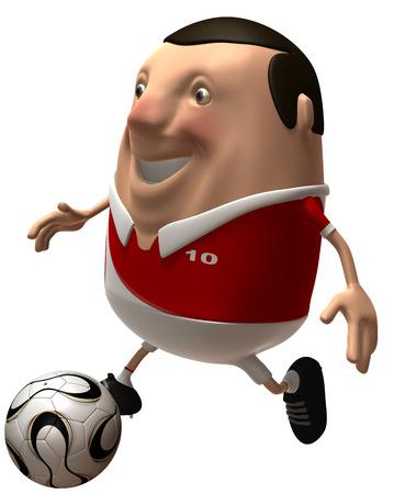 Cartoon soccer player Standard-Bild