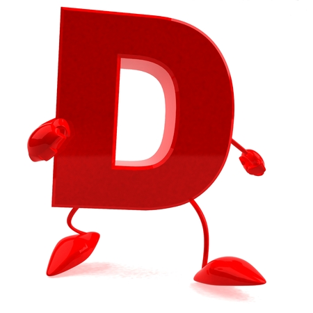 Cartoon character of letter d Stock Photo