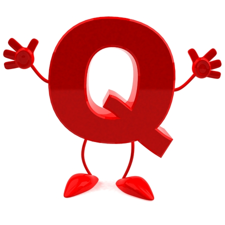 Cartoon character of letter q