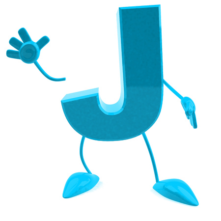 Cartoon character of letter j