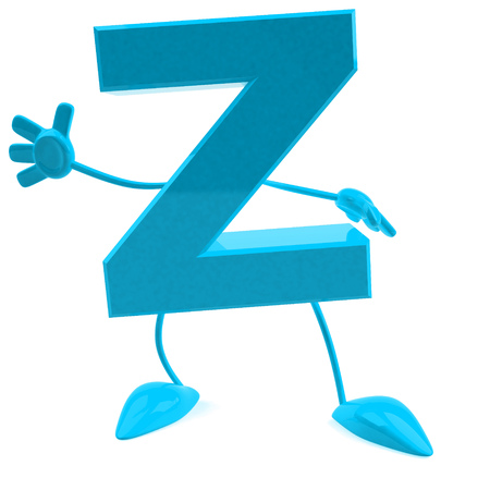 Cartoon character of letter z