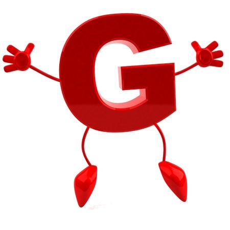 문자 g의 만화 캐릭터