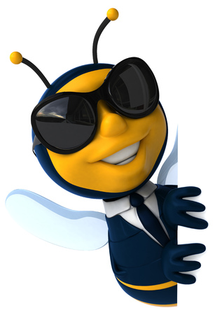 accountant: Fun bee Stock Photo