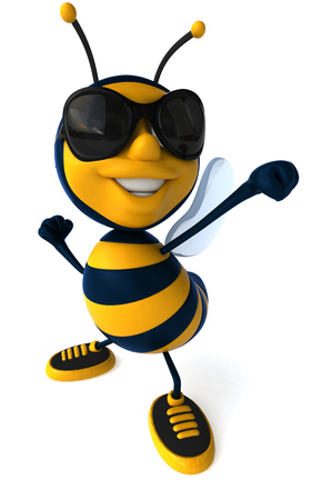 Cartoon bee with sunglasses posing Stock fotó