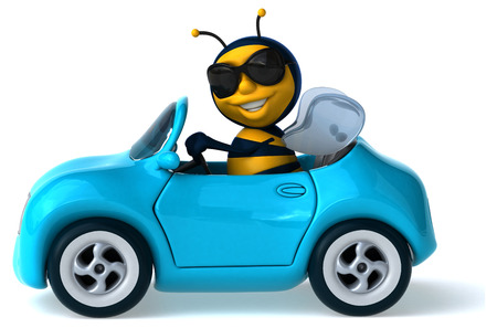 yellow car: Fun bee Stock Photo