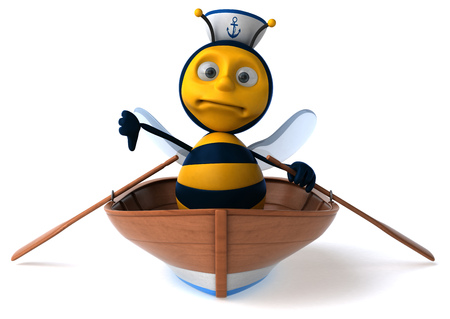 captain cap: Fun bee Stock Photo