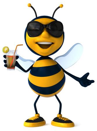 bee party: Fun bee Stock Photo