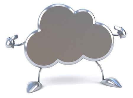 3D-wolkkarakter dat op zelf richt