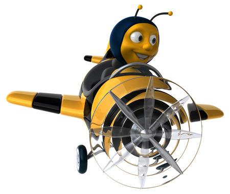 aerial animal: Fun bee Stock Photo