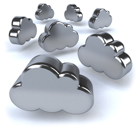 3D metallic clouds