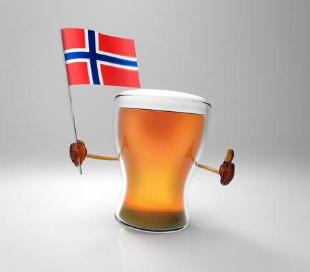 norway flag: Fun beer