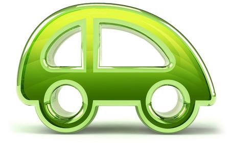 3D green car design