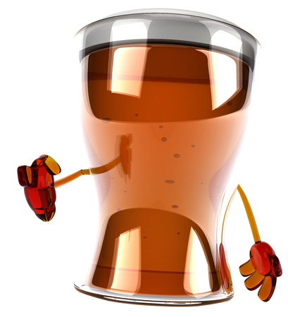 3D beer character pointing