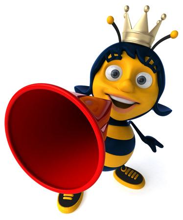 Fun bee Stock Photo