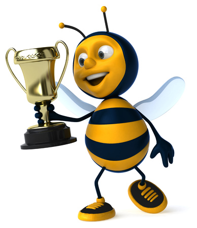 buzz: Fun bee Stock Photo