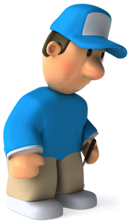 Cartoon golfer feeling tired